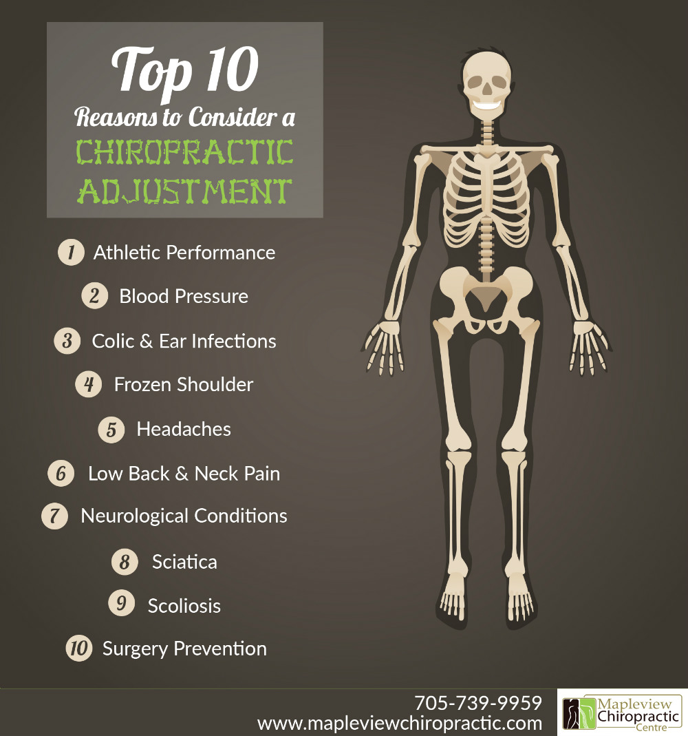 Top Ten Reasons You Should Consider a Chiropractic Adjustment