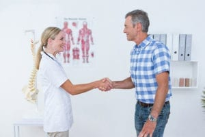 an appointment for a chiropractic adjustment