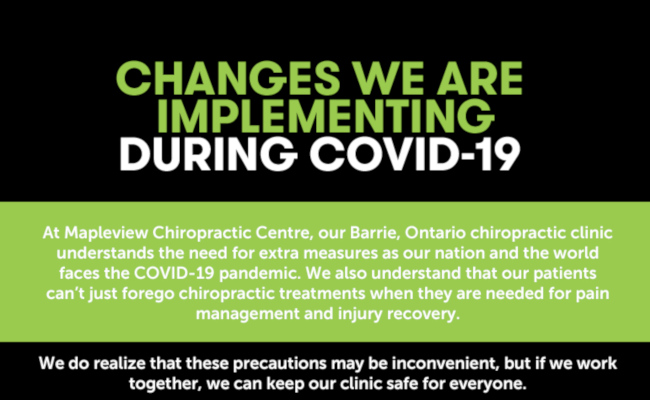 Changes We are Implementing During COVID-19 [infographic]